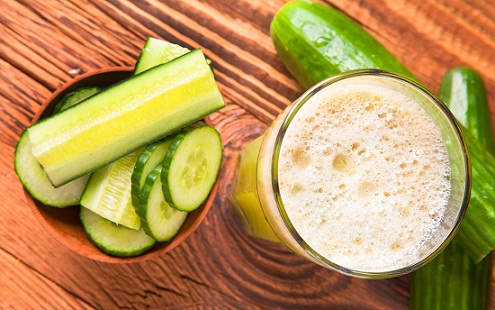 Juices for glowing skin -cucumber