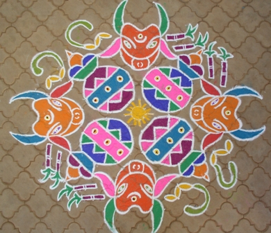 rangoli designs for sankranti