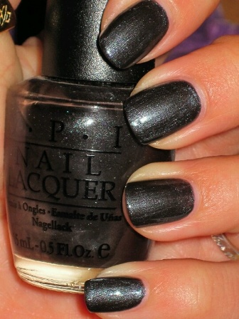 Black Satin Nail Polish From OPI Is Metallic Blackish Grey Paint As The Name Says Its True And It Look Really Classy