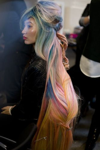 the pastel fishtail braid hairstyle undone look