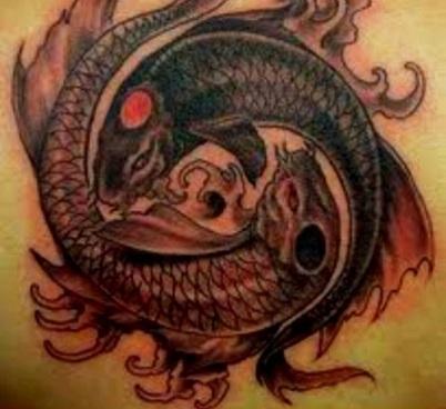 Pisces Yin Yang Tattoo