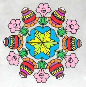 pongal rangoli designs