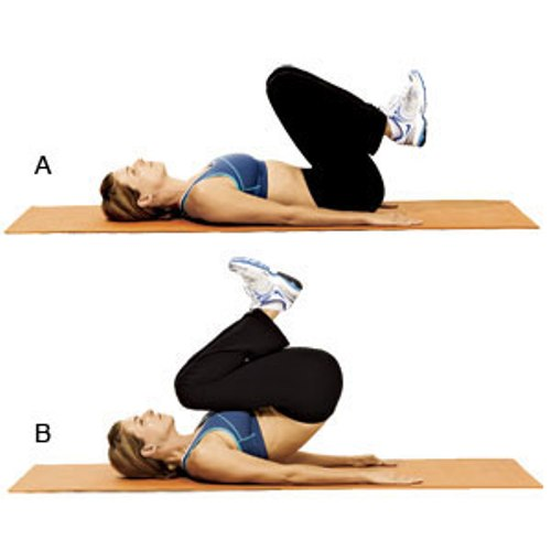 Belly fat exercise - Reverse Crunches