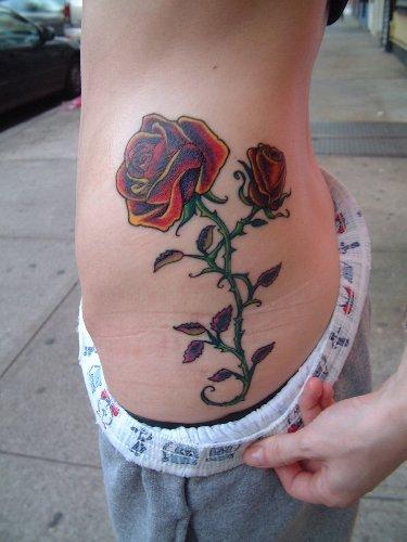 rose love tattoos for girls
