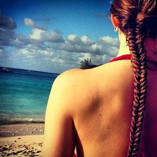 The Summer Tight Fishtail Braid Look hairstyle