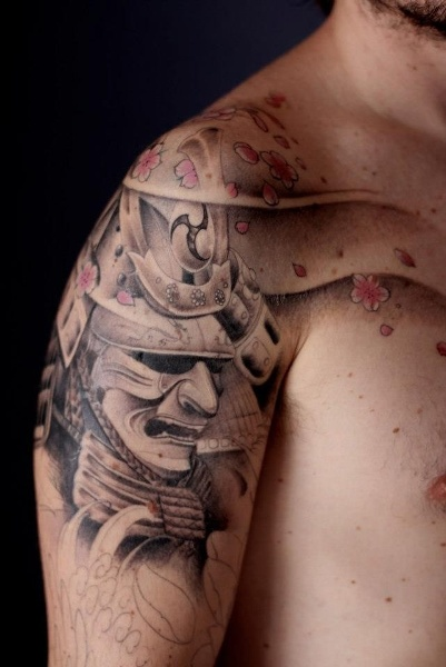 Samurai Face Tattoo