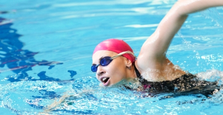 Swimming exercise for reducing belly fat