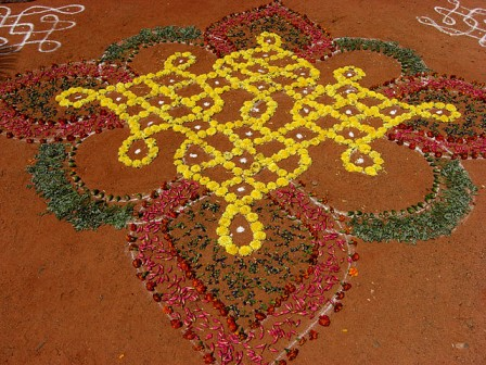 tradiational rangoli designs for pongal
