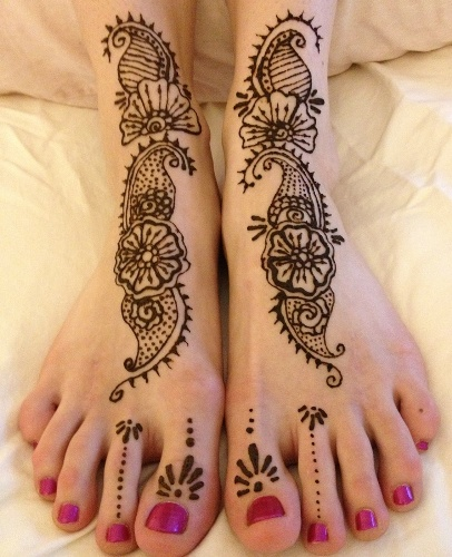 Mehndi Flower Images : Adorable flower mehndi designs for hands and feet with