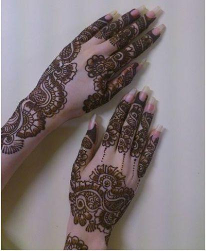 Flower Mehndi Designs 10