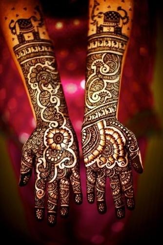 Floral Mehndi Designs For Weddings