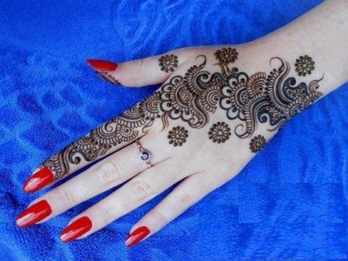 Flower Mehndi Designs 6