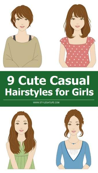 9 Cute Casual Hairstyles for Girls