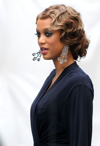 Retro African American Hairstyle