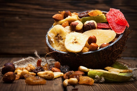 Diet Foods for Hair Growth - nuts and fruits