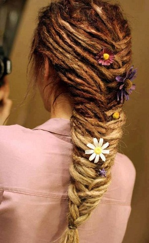 The Fishtail Braid For Dreads Look