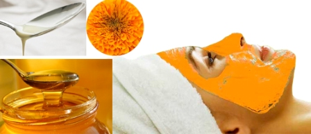 Marigold flower face pack