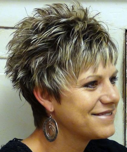 Super Short Spikes Pixie Haircut