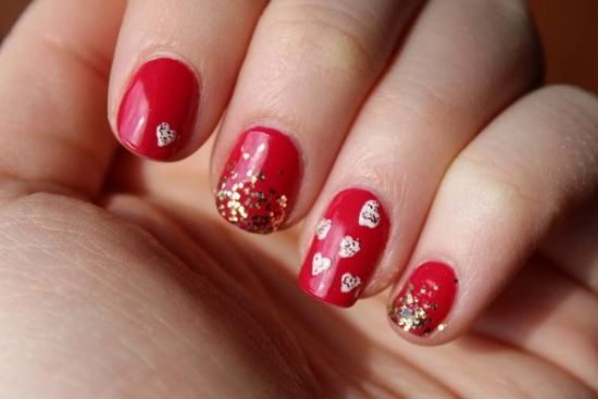 Red Hot Valentine s Day Nail Art