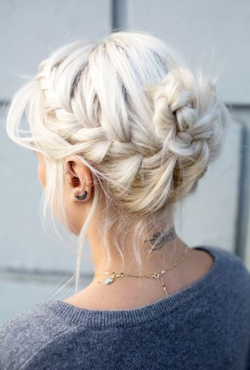 Side Braid Blonde Hair