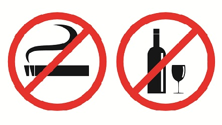 avoid Smoking and drinking For Healthy Hair