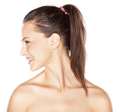 neat ponytail