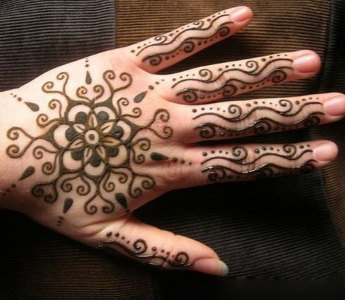 esay flower mehndi design