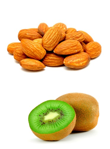 Almonds and Kiwi
