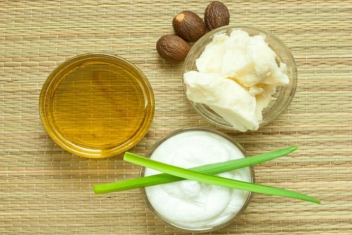 Aloe Vera For Acne - How To Use It-Aloe Vera, Olive Oil And Shea Butter Paste