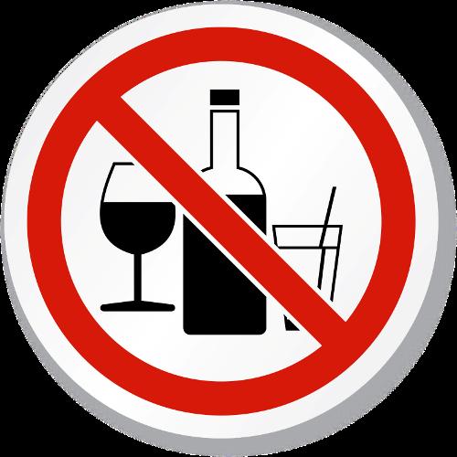 Avoid Drinking sign