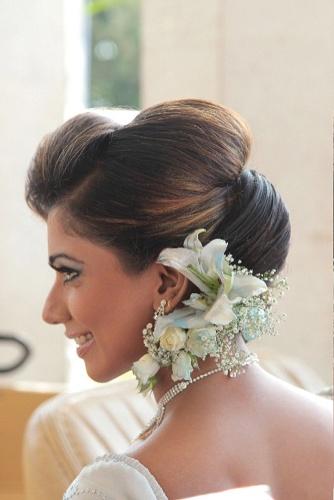 Juda Hairstyle on Saree