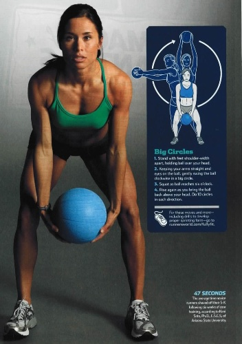 medicine ball exercises - Big Circles