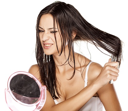 Brush Your Hair to get shiny