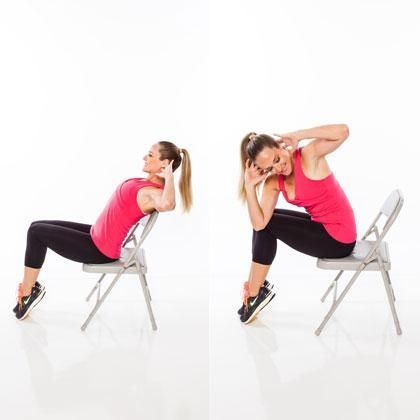 exercise belly fat Chair exercise