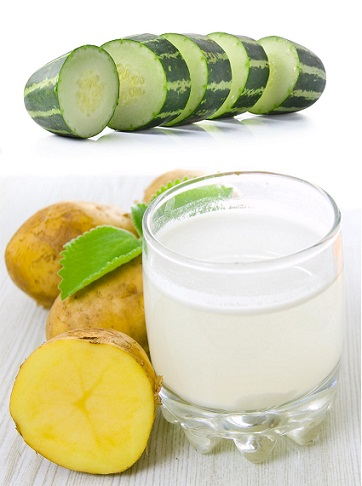 Cucumber and Potato juice Cleansing face Pack