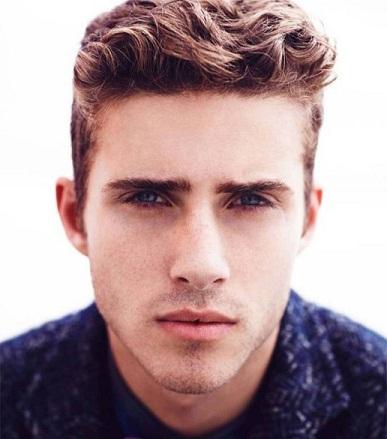 Wavy Undercut Hairstyle for Men