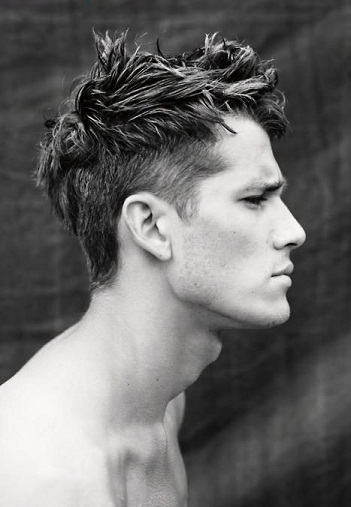 50 New Impressive Men's Hairstyles - messy undercut style