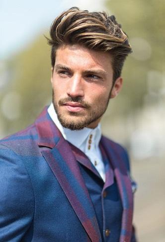 Highlighted Modelling Haircut for Men