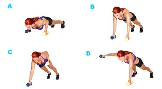 exercise belly fat Dumbbell Cross Rows