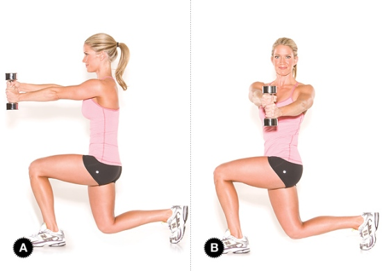 exercise belly fat Dumbbell Twists