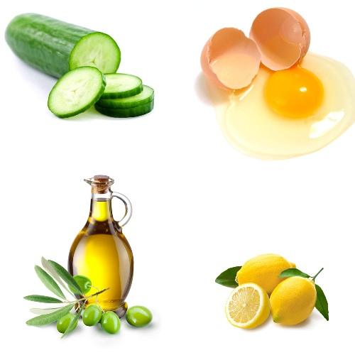 Egg face mask With olive oil cucumber
