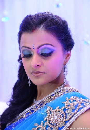 Elegant Blue makeup