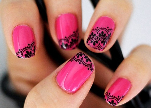 9 best pink nail art designs styles at life just because you want pink nail art designs does not mean that your colour options are limited to pink only you can design your nails in stripes or various prinsesfo Image collections