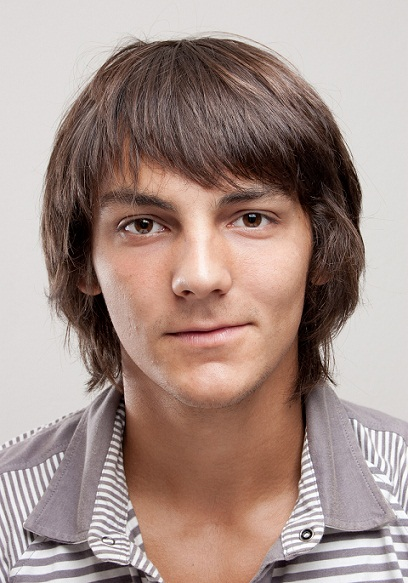 Short Or Long Bangs Men'S Hairstyle