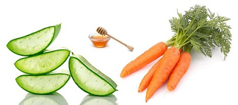 Carrot, Honey And Aloe Face Pack