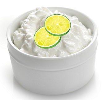 Homemade Face Packs for Dry Skin-Curd and Lime face Pack