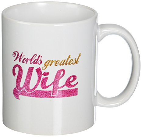 A Personalized Message On Them Make Lovely Gifts For Your Better Half The Mug In White Is Given Shining Words That Mention Her As Greatest Wife
