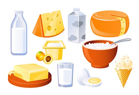 How to Gain Body Weight-Dairy products