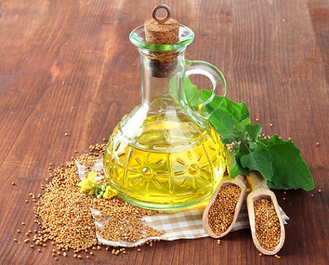 Mustard oil for dry hair