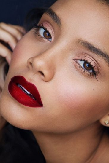Inside out Red Ombre lips